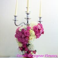 Floral candelarbra for wedding
