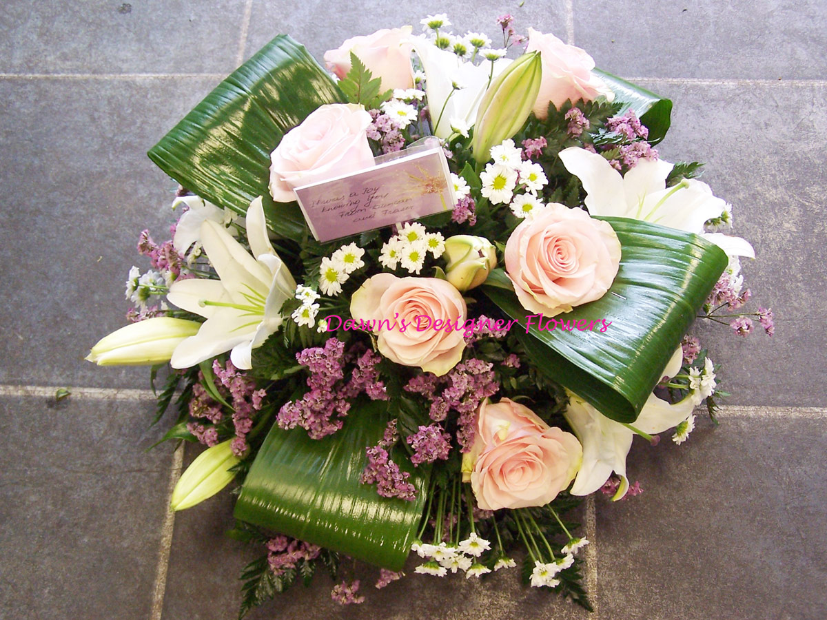 Pink And Creamfuneral Posyhammersmith Florist