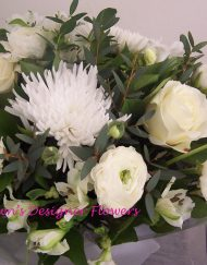 White hand tied bouquet of flowers