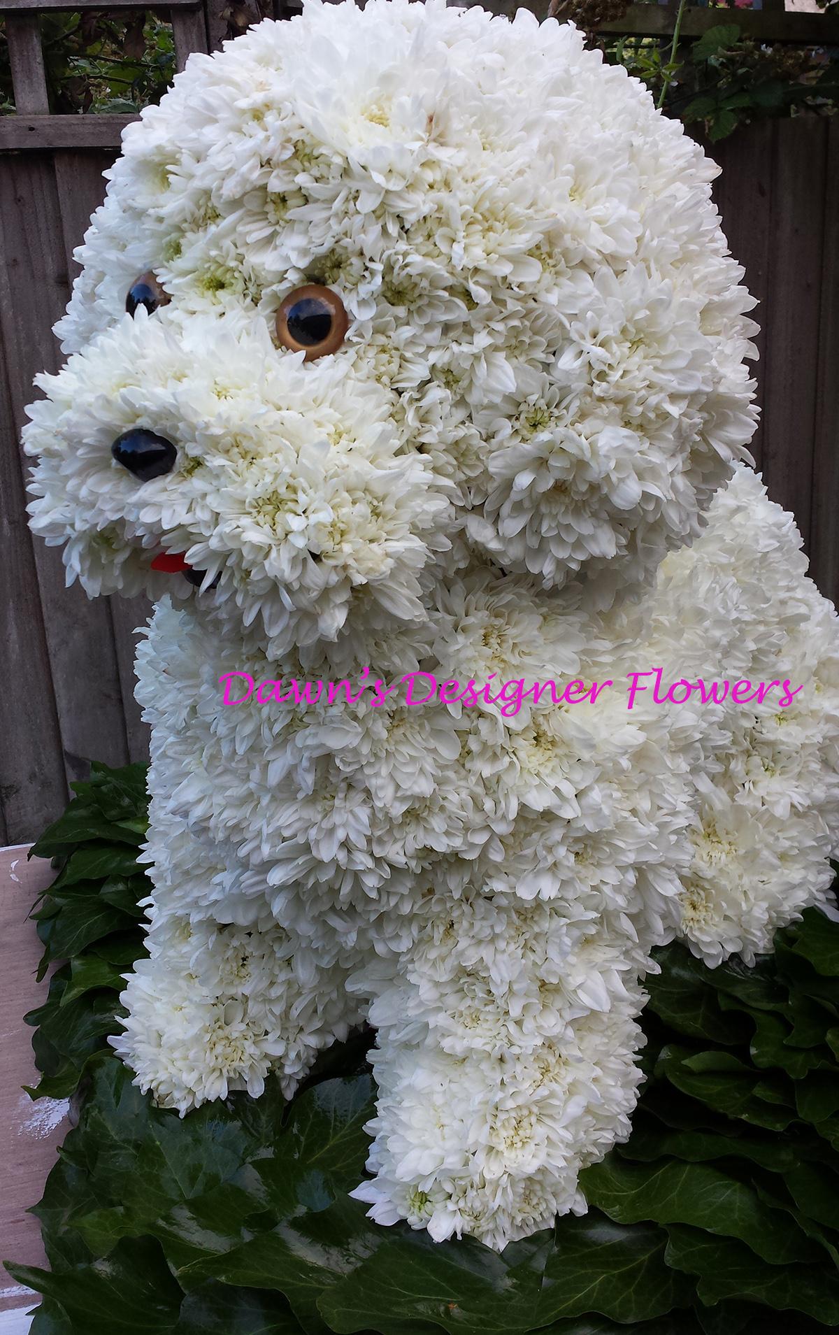 Dog London Floristfuneral Tribute Flowers