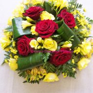 Red and Yellow Funeral Posy