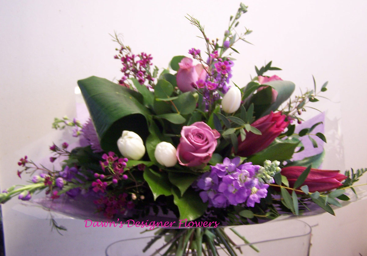 Pink White And Purple Flower Bouquet Buy Flowers Online