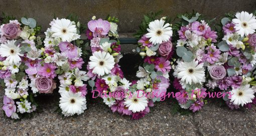Pink and purle orchids,gerbera,freesia,alstromeria,roses