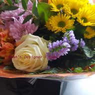 White, yellow, pink, spring flowers, dawns designer flowers, London